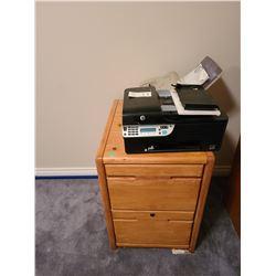 Oak file cabinet and more. Cat B