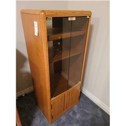 Oak stereo cabinet Cat B