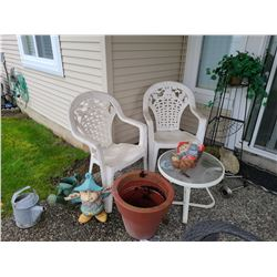 Patio Chairs and Table C