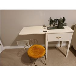 Sewing Machine and Chair C