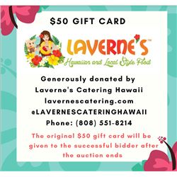 $50 Gift Card from Laverne's Catering & Lunch Truck (Oahu)