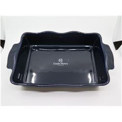New Wlliams-Sonoma 'Emile Henry' 13 x 9 Baking Dish, Navy $85 Retail
