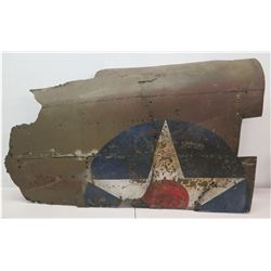 "Large Piece of WWII Airplane Wreckage - Prop from Movie 'Pearl Harbor' (approx. 47"", 32"" tall)"