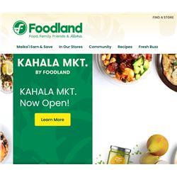 $100 Gift Card for Foodland Hawaii