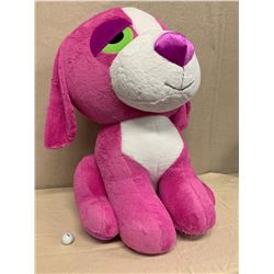 "Giant Pink Plush Dog, Approx. 36"" Tall (New Condition)"