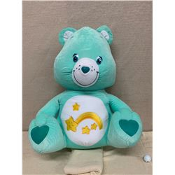 Large Plush Blue Care Bear w/ Tag (Faint Spots on Back, Otherwise New Cond)