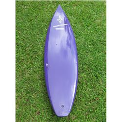 Purple Wall-Hanger Surfboard Signed by Andy Irons
