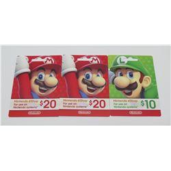 $50 Gift Card for Nintendo E-Shop