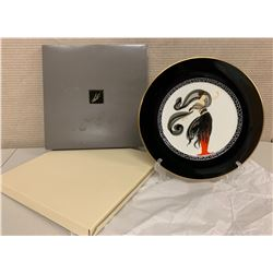 "Erte' Flames D' Amour 12"" Charger Plate, Japan Bone China, New Condition, 1985 A3053"
