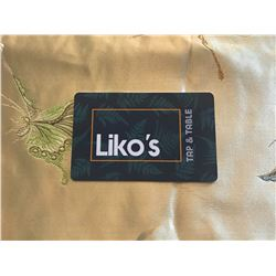 $25 Gift Card for Liko's Tap & Table Sports Bar/Restaurant (Hawaii Kai)