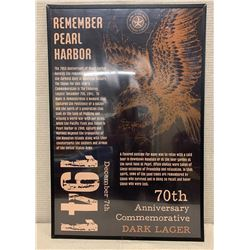 "Framed 'Remember Pearl Harbor' 70th Anniversary Poster 20"" x 30"""
