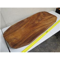 "Large, Thick Solid Wood Luau Poi Pounding Board, Approx. 55"" x 23"""
