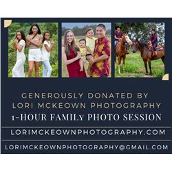 One-Hour Family Photography Session for Up to Five People (Donated by Lori McKeown Photography)