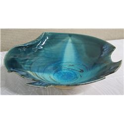 "Glazed ""Monster Wave"" Ceramic Bowl, Aqua/Blue Ocean Tones 13"" Dia, 6"" H (Donated by Pokai Studios)"