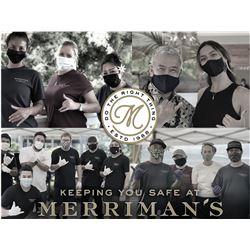 $100 Gift Card for Merriman's Restaurant Hawaii