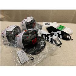 3 New DC 'Covert Trucker' Hats & 3 Pairs of New DC Socks