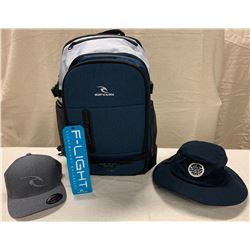 New Rip Curl Products: F-Light Posse Stacka Backpack ($119 Retail), Brim Hat & Flex Hat