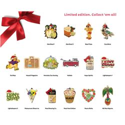 Hi Biz Ornaments - 2020 Collection of Tree Ornaments Featuring Iconic Hawaii Businesses $294 Value
