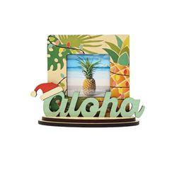 Aloha Longboard Theme Mini Picture Frame (Fits 3x3 Photo)