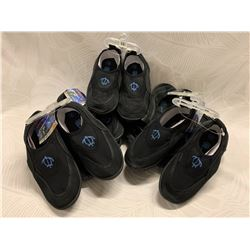 7 New Pairs of Children's Reef Walkers, Black w/ Honu (sz 11, 12, 13)