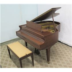 "Chickering Baby Grand Piano 54"" Depth, 60"" Wide, 37"" Ht."