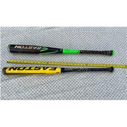 2 Easton Baseball Bats, Used