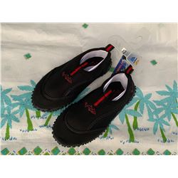 10 Pairs of New Children's Black/Red Dolphin Reef Walkers, Sz 12