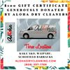 $100 Gift Card for Aloha Dry Cleaners - 3 Locations (Generously Donated by Aloha Dry Cleaners)