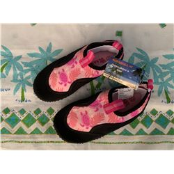 10 Pairs of New Children's Pink Floral Print Reef Walkers, Sz 12