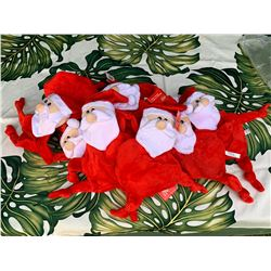 "Qty 10 New Santa Flatties ""Squeak"" Dog Toys, Large"