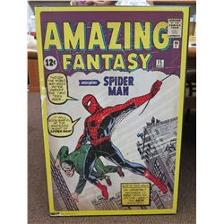 "Collectible 'Amazing Fantasy' Vintage Comic Book 'Introducing Spiderman' Wall Art 24""x36"""