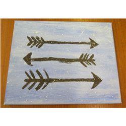 "Arrows Artwork Canvas on Wood Frame 8""x10"""