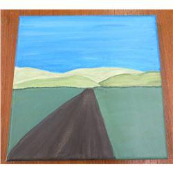 """Landscape Artwork Canvas on Wood Frame 8""""x8"""""""