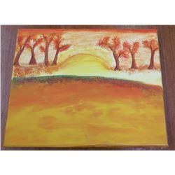 """Landscape Artwork Canvas on Wood Frame 8""""x10"""""""