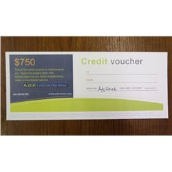 $750 Credit Voucher A.O.K. Home Maintenance Home Repair/Handyman