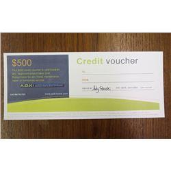 $500 Credit Voucher A.O.K. Home Maintenance Home Repair/Handyman