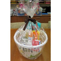 Stay Clean Gift Basket: Wet Ones, Soaps, Lysol, travel containers, etc