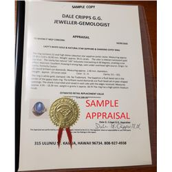 Dale Cripps G.G. Jeweller-Gemologist Jewelry Appraisal (Proceeds Donated)