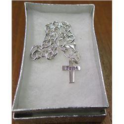 Metal Chain & Cross 'Faith'