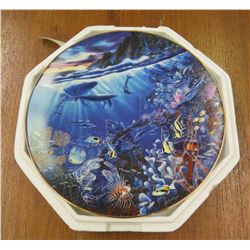 Collector Plate 'Sphere of Life' Signed by Artist Enchanted Seascapes #1580A