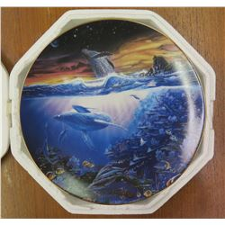 Collector Plate 'Edge of Time' Signed by Artist Enchanted Seascapes #1580A