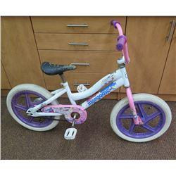 Girl's Mongoose White & Pink Cruiser Bike