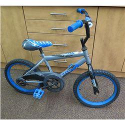 Boy's Huffy Blue & Gray Cruiser Bike
