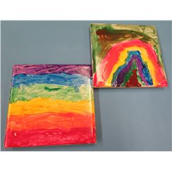 """4""""x4"""" Hand-painted Decorative Coasters"""