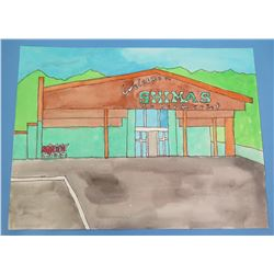 """Landscape Artwork Shimla's Market 12""""x9"""""""