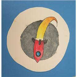 """Rocket Artwork 6"""" round"""