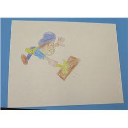 "Child's Drawing Handyman Artwork  8.5""x11"""