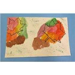 """Landscape Artwork Autumn Leaves  8.5""""x5.5"""""""