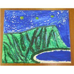 "Landscape Artwork Evening Beach Scene  16""x20"""