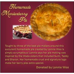 Homemade Marionberry Pie